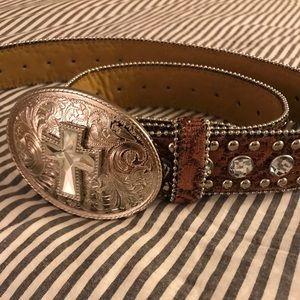Blazin Roxx Brown Bedazzled Belt